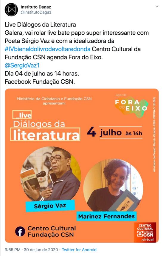 Live Diálogos da Literatura