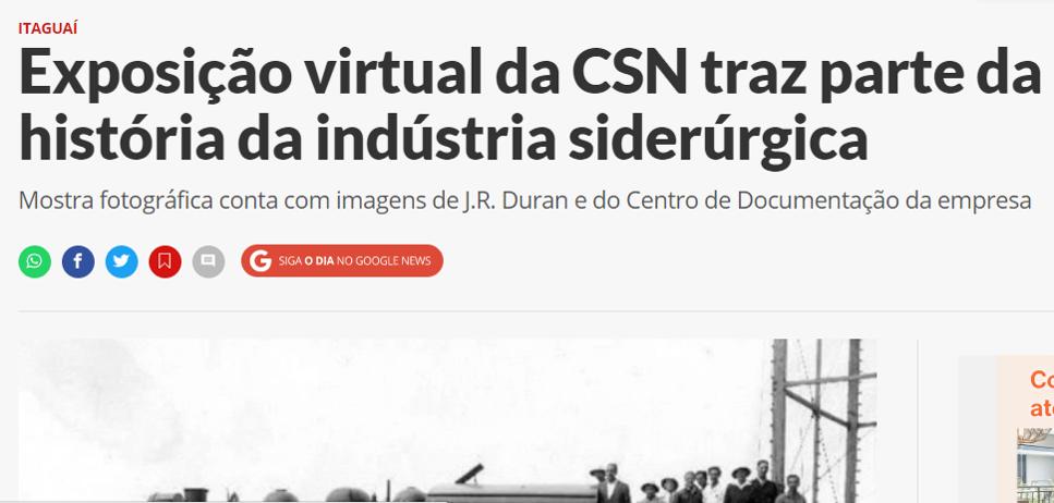 Exposição virtual da CSN traz parte da história da indústria siderúrgica