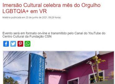 Imersão Cultural celebra mês do Orgulho LGBTQIA+ em VR