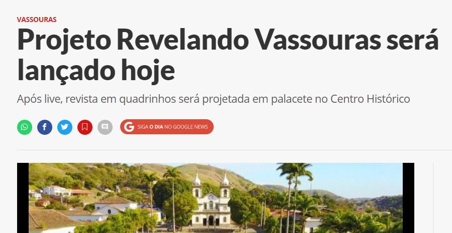 Projeto Revelando Vassouras será lançado hoje
